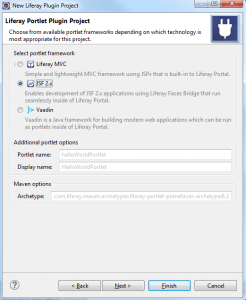 Create JSF Liferay Portlet