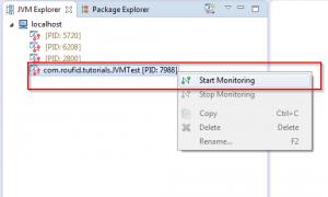 JVisualVM - Start application monitoring