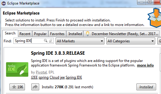 Install Spring IDE on Eclipse - Roufid